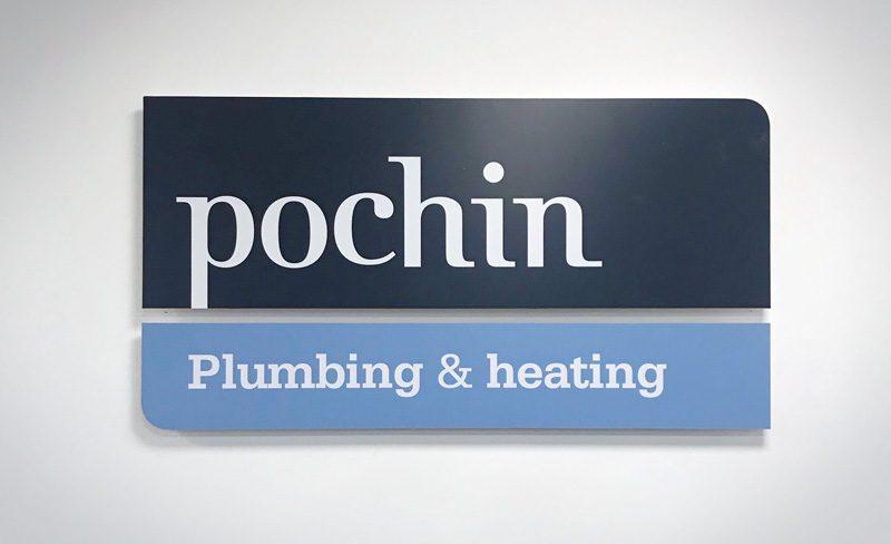 Robert Pochin Logo Signage